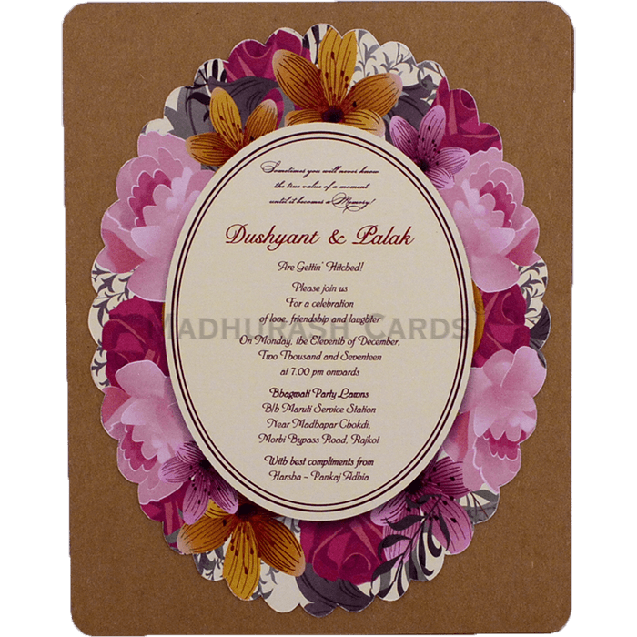 Kraft Wedding Invitations - KWC-9531 - 4