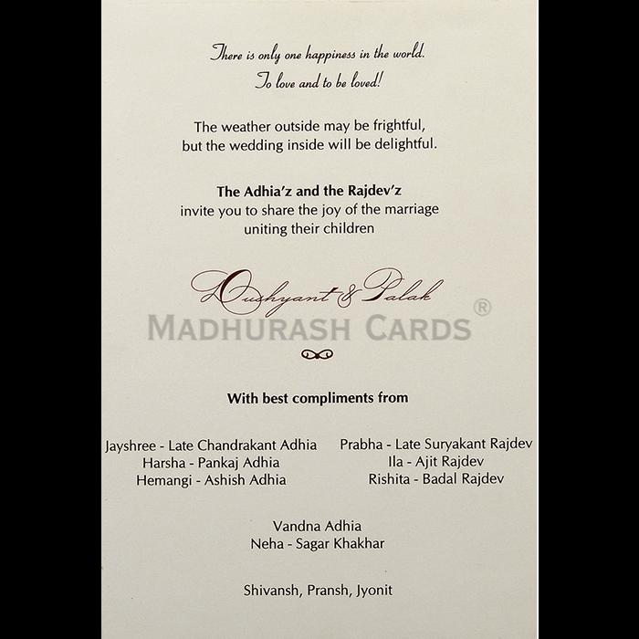 Custom Wedding Cards - CZC-9465 - 5