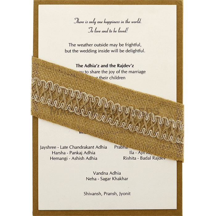 test Kraft Wedding Invitations - KWC-9465