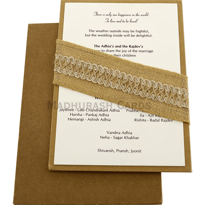 Kraft Wedding Invitations - KWC-9465 - 3
