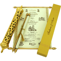 Royal Scroll Invitations - SC-6004