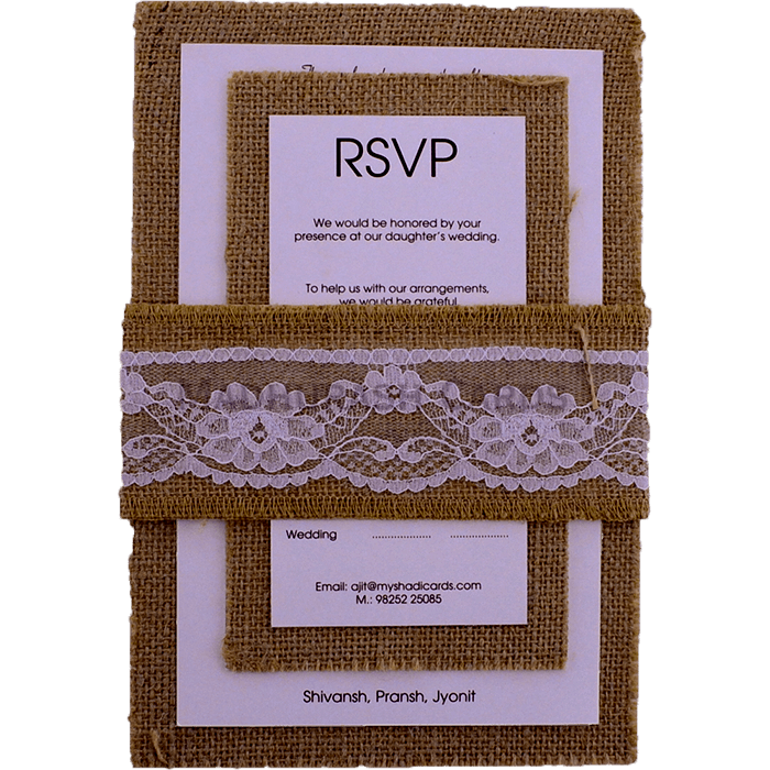 Kraft Wedding Invitations - KWC-9422 - 4