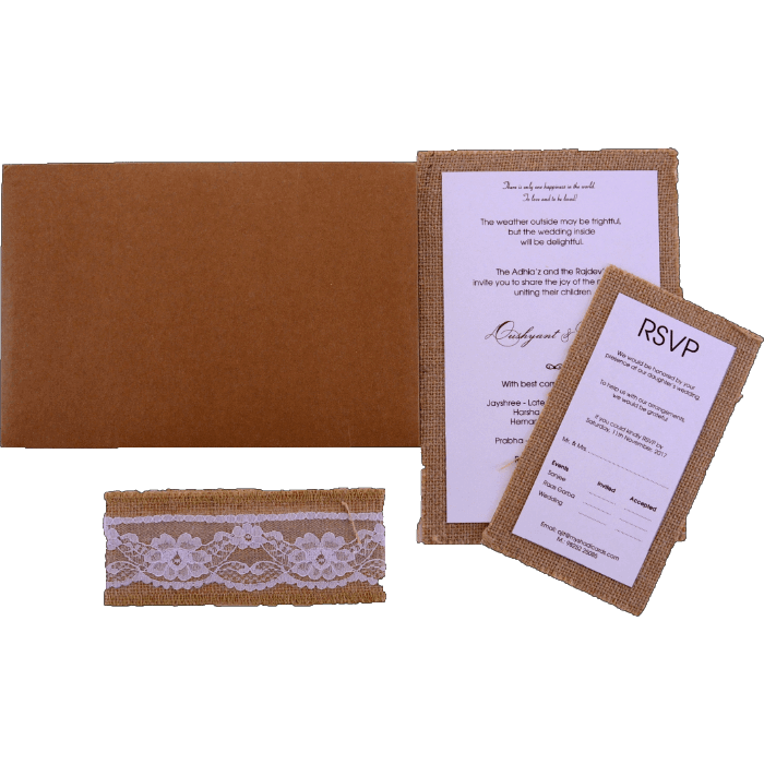 Kraft Wedding Invitations - KWC-9422 - 5