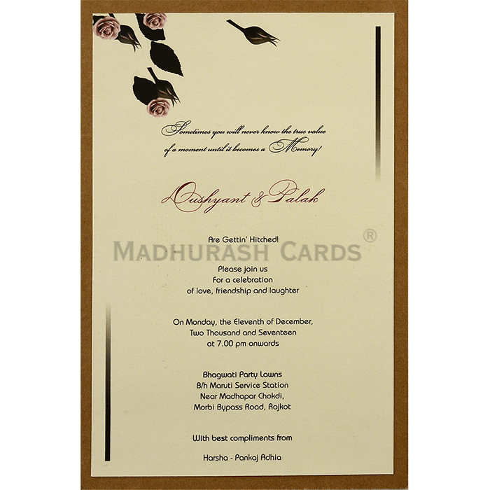 Custom Wedding Cards - CZC-9452 - 4