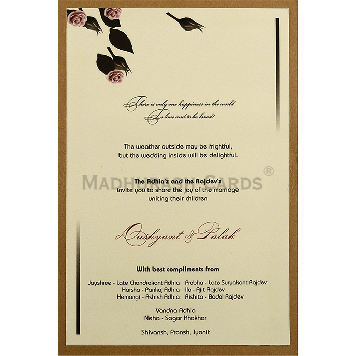 Custom Wedding Cards - CZC-9452 - 5