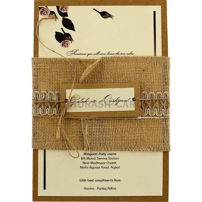 test Kraft Wedding Invitations - KWC-9452
