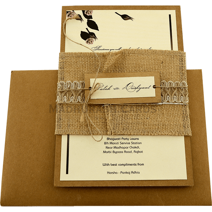 Kraft Wedding Invitations - KWC-9452 - 3