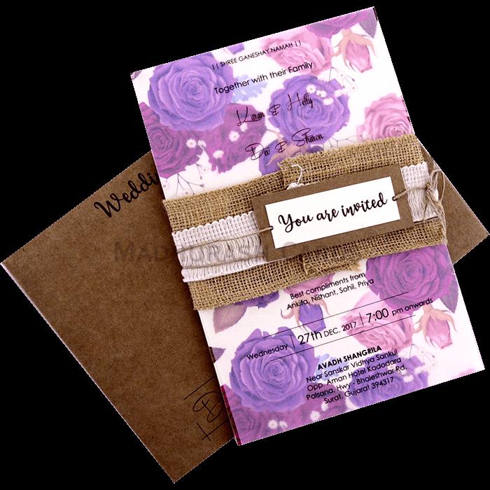 Custom Wedding Cards - CZC-9423 - 4