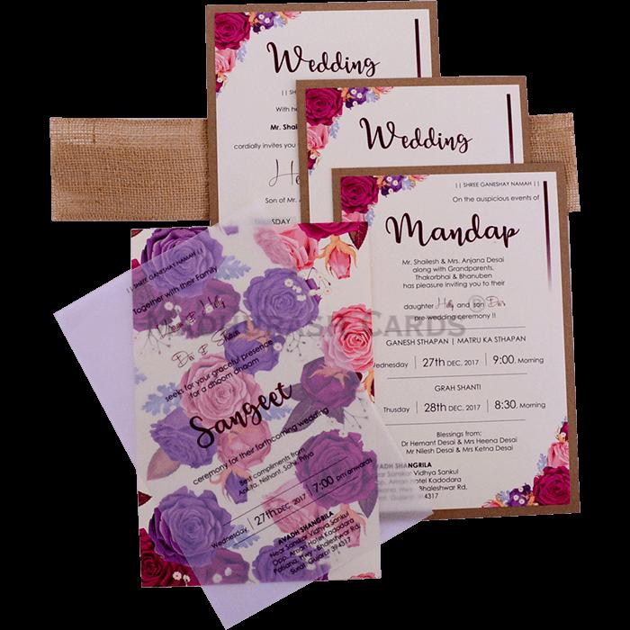 Custom Wedding Cards - CZC-9423 - 5