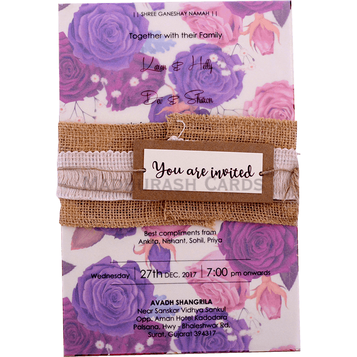 test Kraft Wedding Invitations - KWC-9423