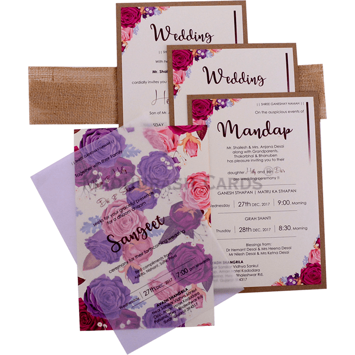 Kraft Wedding Invitations - KWC-9423 - 5