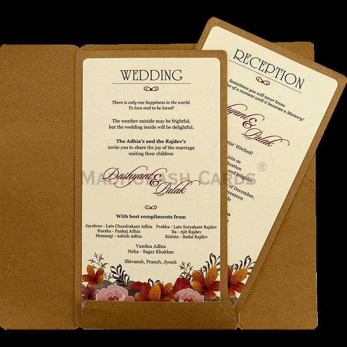 Custom Wedding Cards - CZC-8827 - 4
