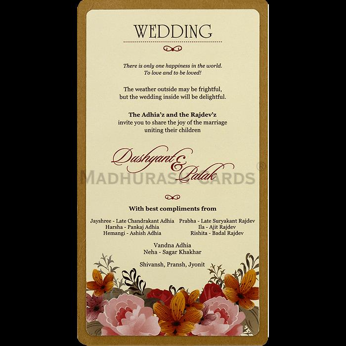 Custom Wedding Cards - CZC-8827 - 5