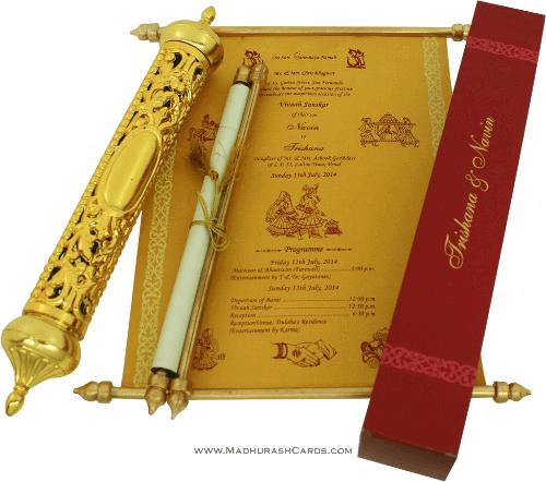 test Royal Scroll Invitations - SC-6007