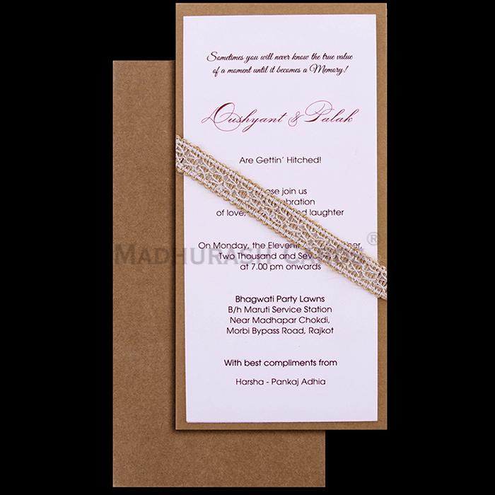 test Custom Wedding Cards - CZC-9501