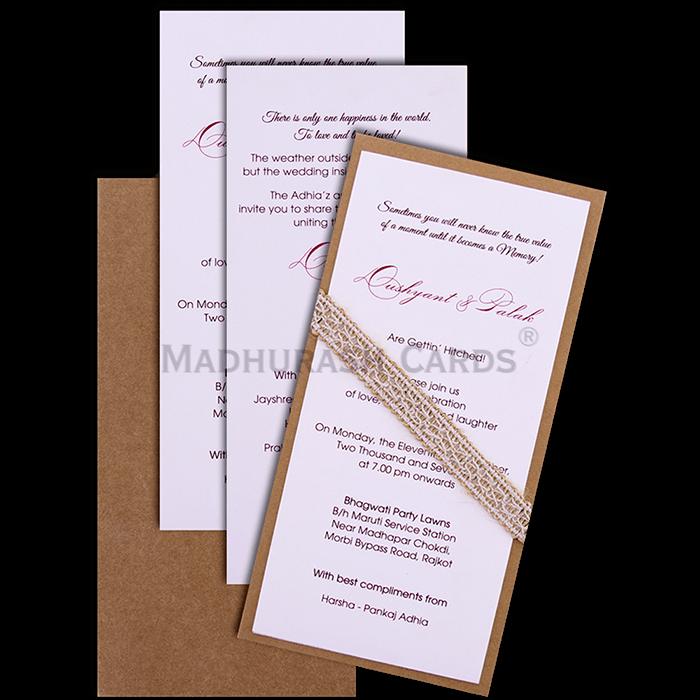 Custom Wedding Cards - CZC-9501 - 4