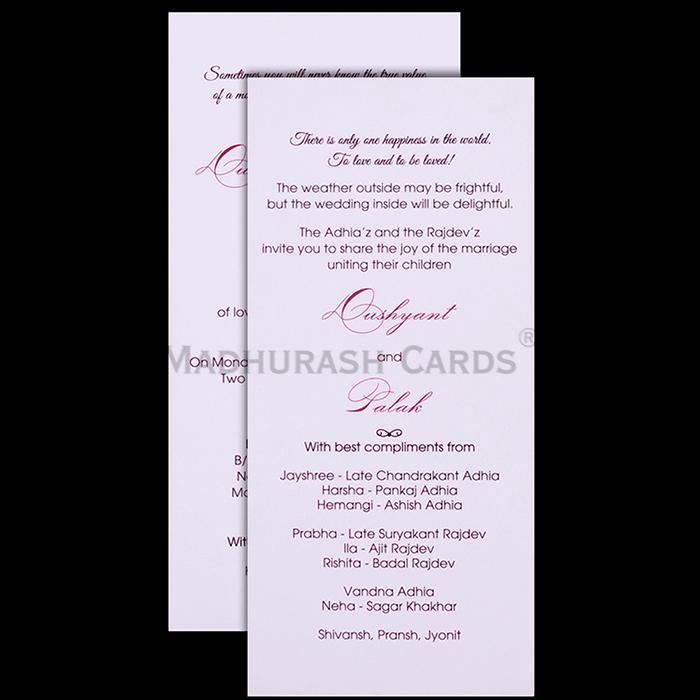 Custom Wedding Cards - CZC-9501 - 5