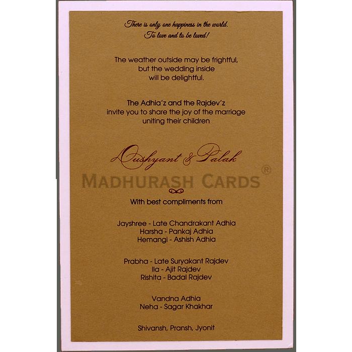 test Custom Wedding Cards - CZC-9536