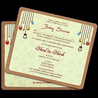 Kraft Wedding Invitations - KWC-9511