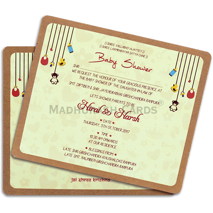 test Kraft Wedding Invitations - KWC-9511