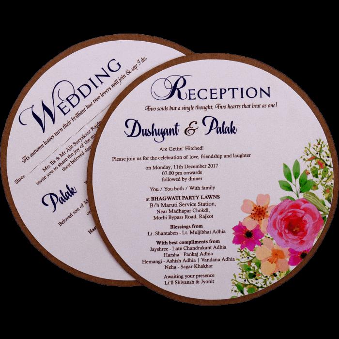 test Kraft Wedding Invitations - KWC-9483