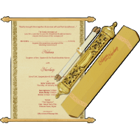 Royal Scroll Invitations - SC-5006
