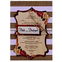 Custom Wedding Cards - CZC-9413