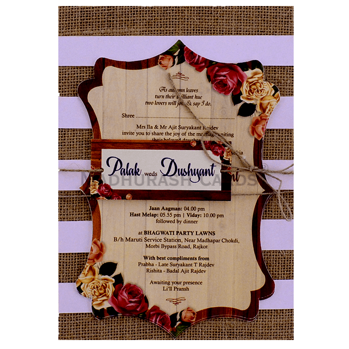 test Kraft Wedding Invitations - KWC-9413