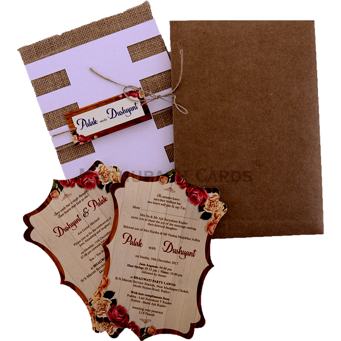 Kraft Wedding Invitations - KWC-9413 - 4