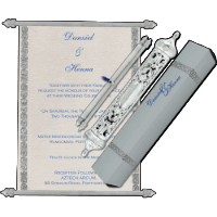 Royal Scroll Invitations - SC-5005
