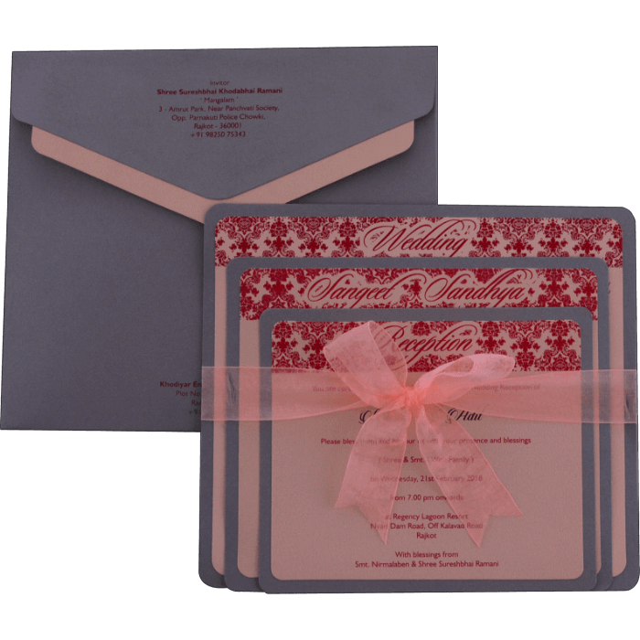Custom Wedding Cards - CZC-9098 - 3