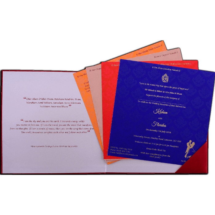 Custom Wedding Cards - CZC-9456 - 3
