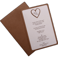 Kraft Wedding Invitations - KWC-9543