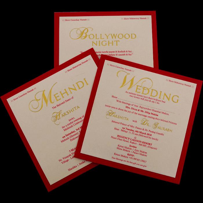 Custom Wedding Cards - CZC-9421R - 3