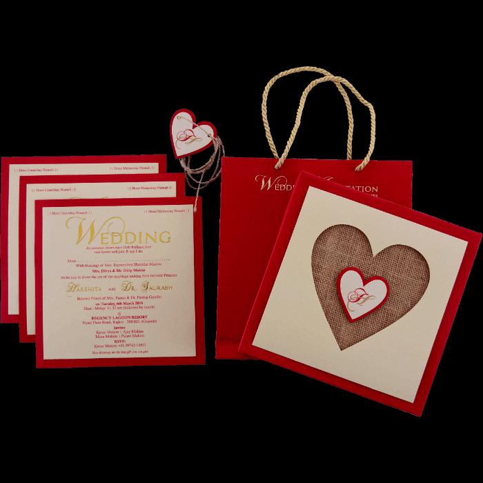 Custom Wedding Cards - CZC-9421R - 5