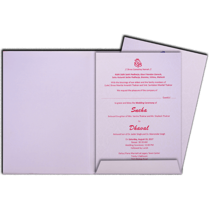 Hindu Wedding Cards - HWC-17082 - 3
