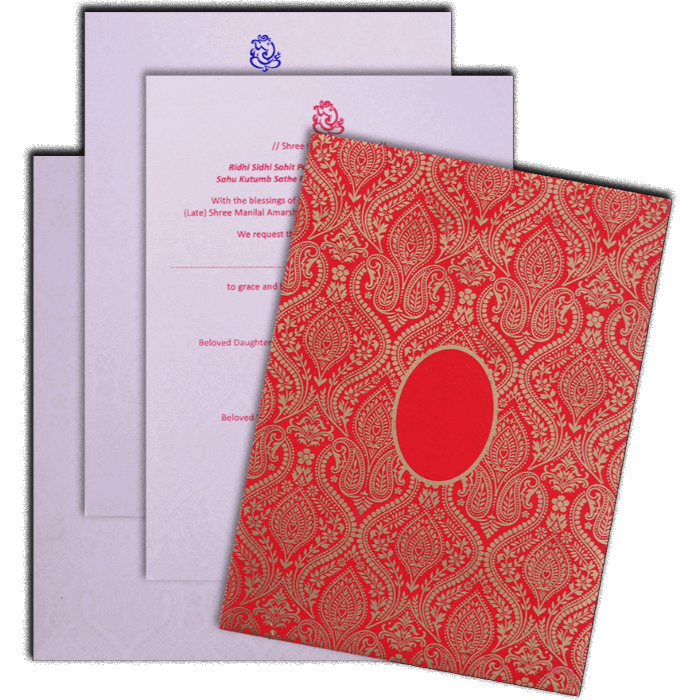 Hindu Wedding Cards - HWC-17082 - 5