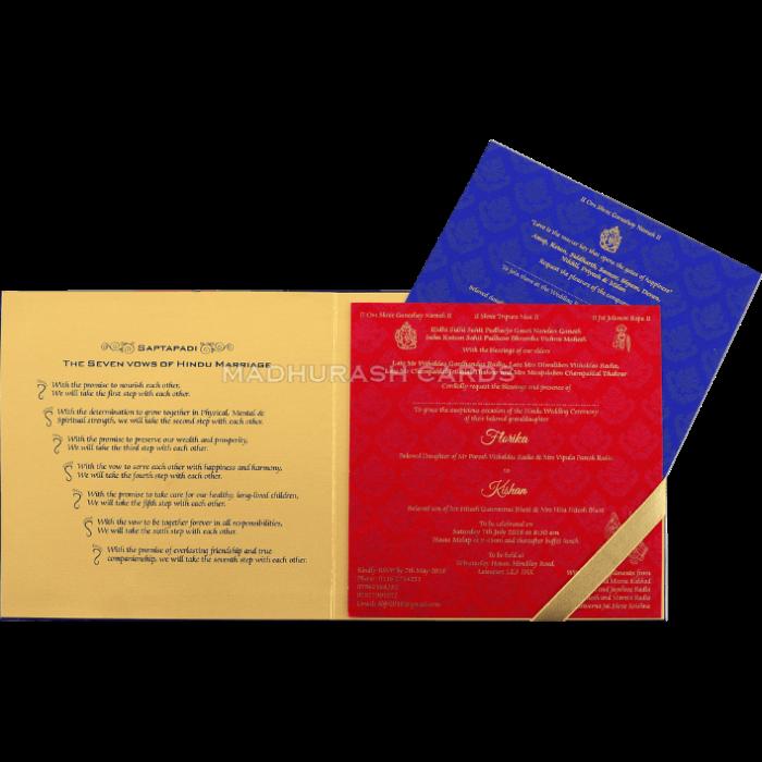 Custom Wedding Cards - CZC-9458 - 4