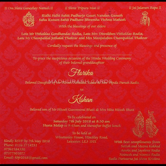 Custom Wedding Cards - CZC-9458 - 5