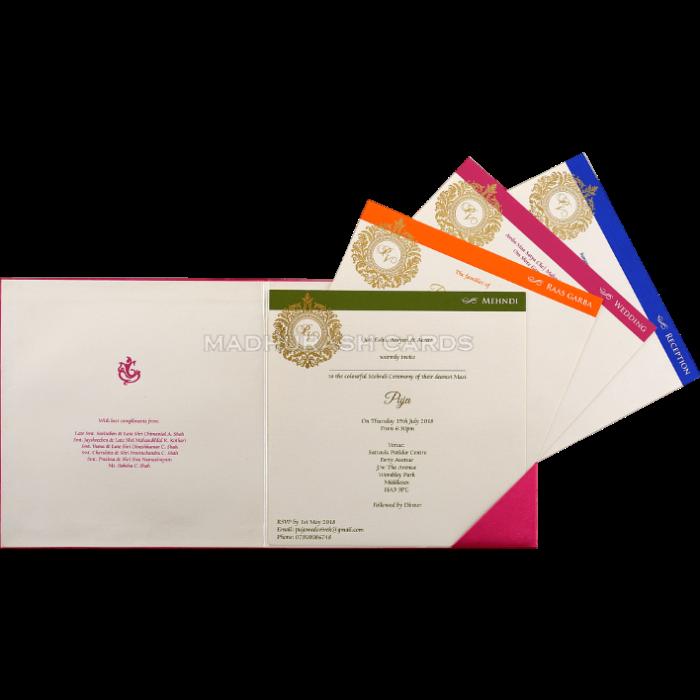 Custom Wedding Cards - CZC-9457 - 4