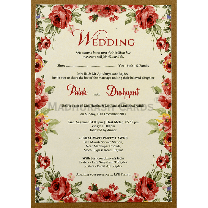 Kraft Wedding Invitations - KWC-8860 - 5