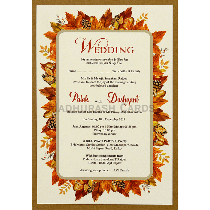 Kraft Wedding Invitations - KWC-8858 - 5