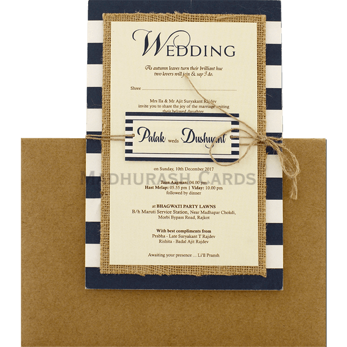 Kraft Wedding Invitations - KWC-9473 - 2