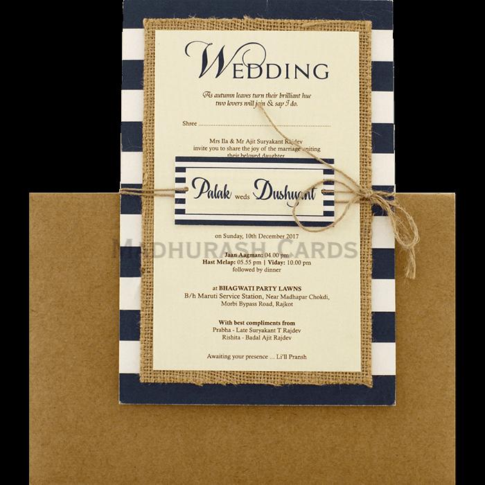test Kraft Wedding Invitations - KWC-9473