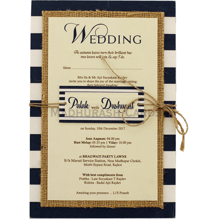 Kraft Wedding Invitations - KWC-9473 - 4