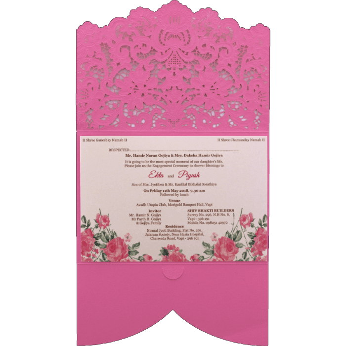 Laser Cut Invitations - LCC-9466P - 3