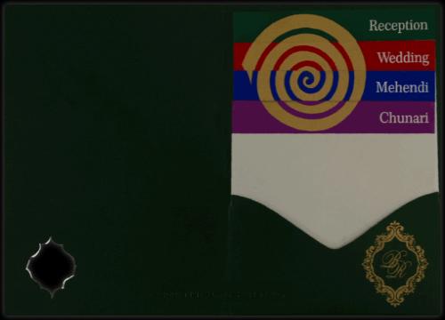 Sikh Wedding Cards - SWC-9045GCS - 3