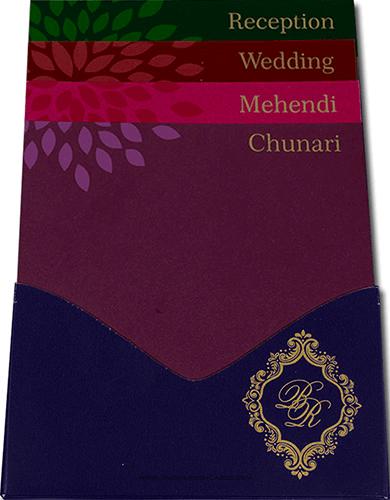 Custom Wedding Cards - CZC-9042BG - 3