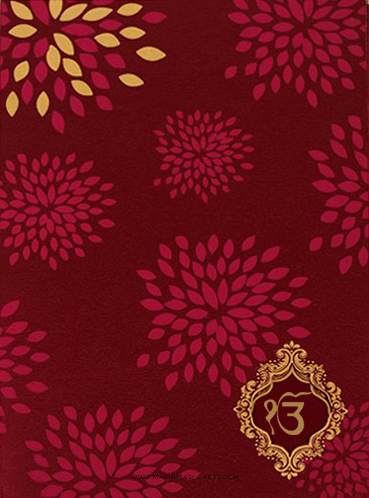 test Sikh Wedding Cards - SWC-9042RGS