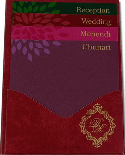Sikh Wedding Cards - SWC-9042RGS - 3